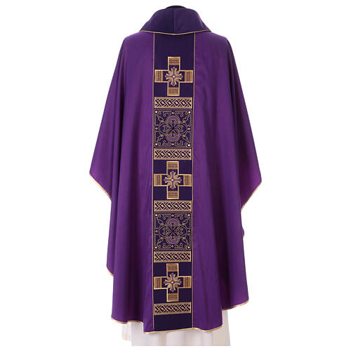 Chasuble polyester with cross and stone decorations Limited Edition 8