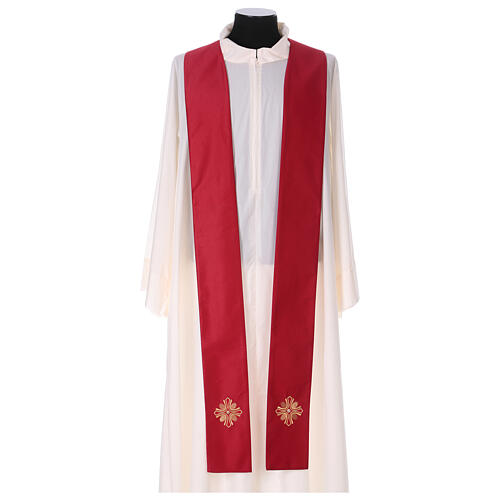 Chasuble polyester with cross and stone decorations Limited Edition 10