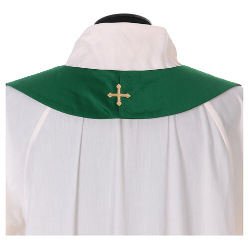 Chasuble polyester with cross and stone decorations Limited Edition 12