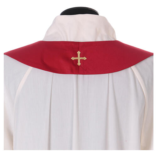 Chasuble polyester with cross and stone decorations Limited Edition 13
