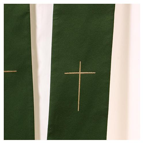 Casula decorazioni dorate 100% poliestere 7