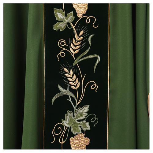 Casula spighe e decorazioni dorate 100% poliestere 4