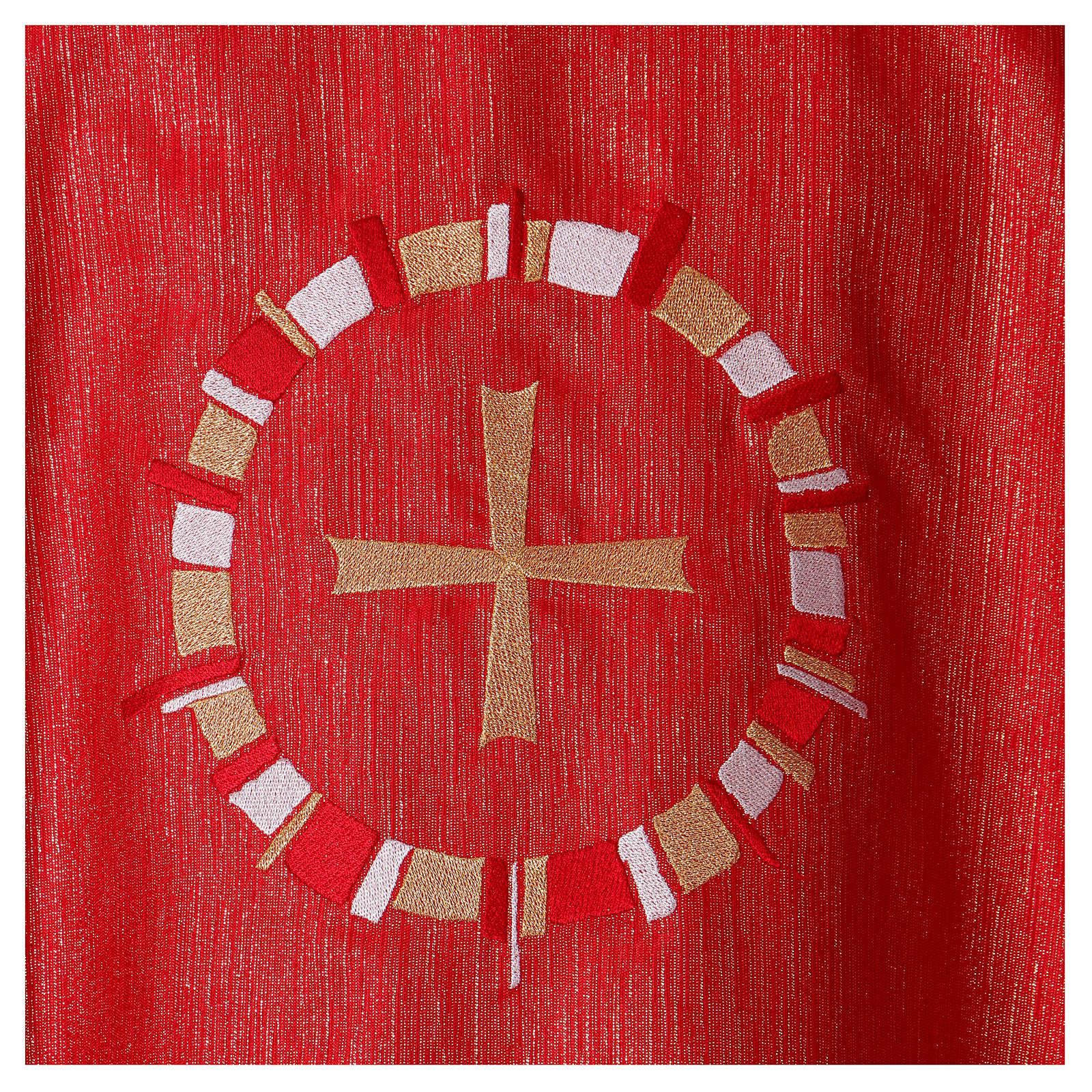 Casula rossa colomba in cerchio 100% poliestere 4