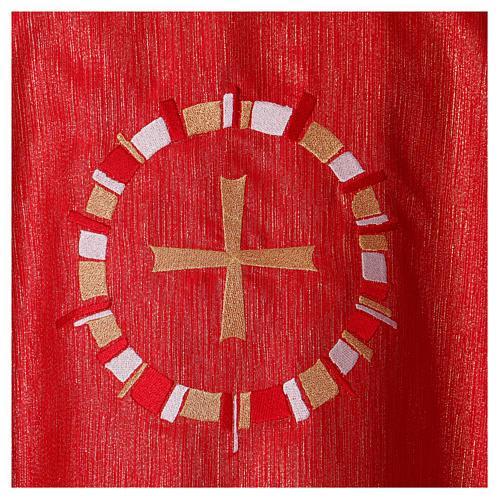 Casula rossa colomba in cerchio 100% poliestere 5