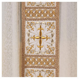 Chasuble with gold cross and stole, 64% acetate 36% viscose s2