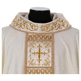 Chasuble with gold cross and stole, 64% acetate 36% viscose s4