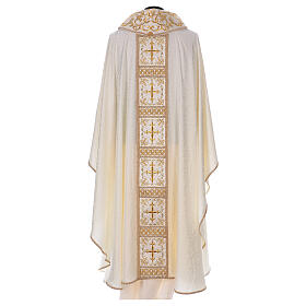 Chasuble with gold cross and stole, 64% acetate 36% viscose s5