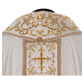 Chasuble with gold cross and stole, 64% acetate 36% viscose s6
