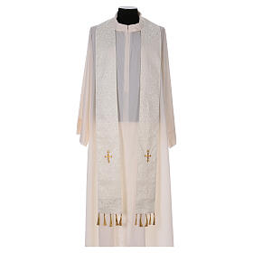 Chasuble with gold cross and stole, 64% acetate 36% viscose s7