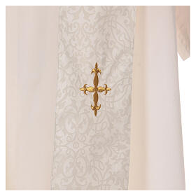 Chasuble with gold cross and stole, 64% acetate 36% viscose s8