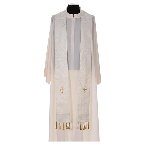 Chasuble with gold cross and stole, 64% acetate 36% viscose 7