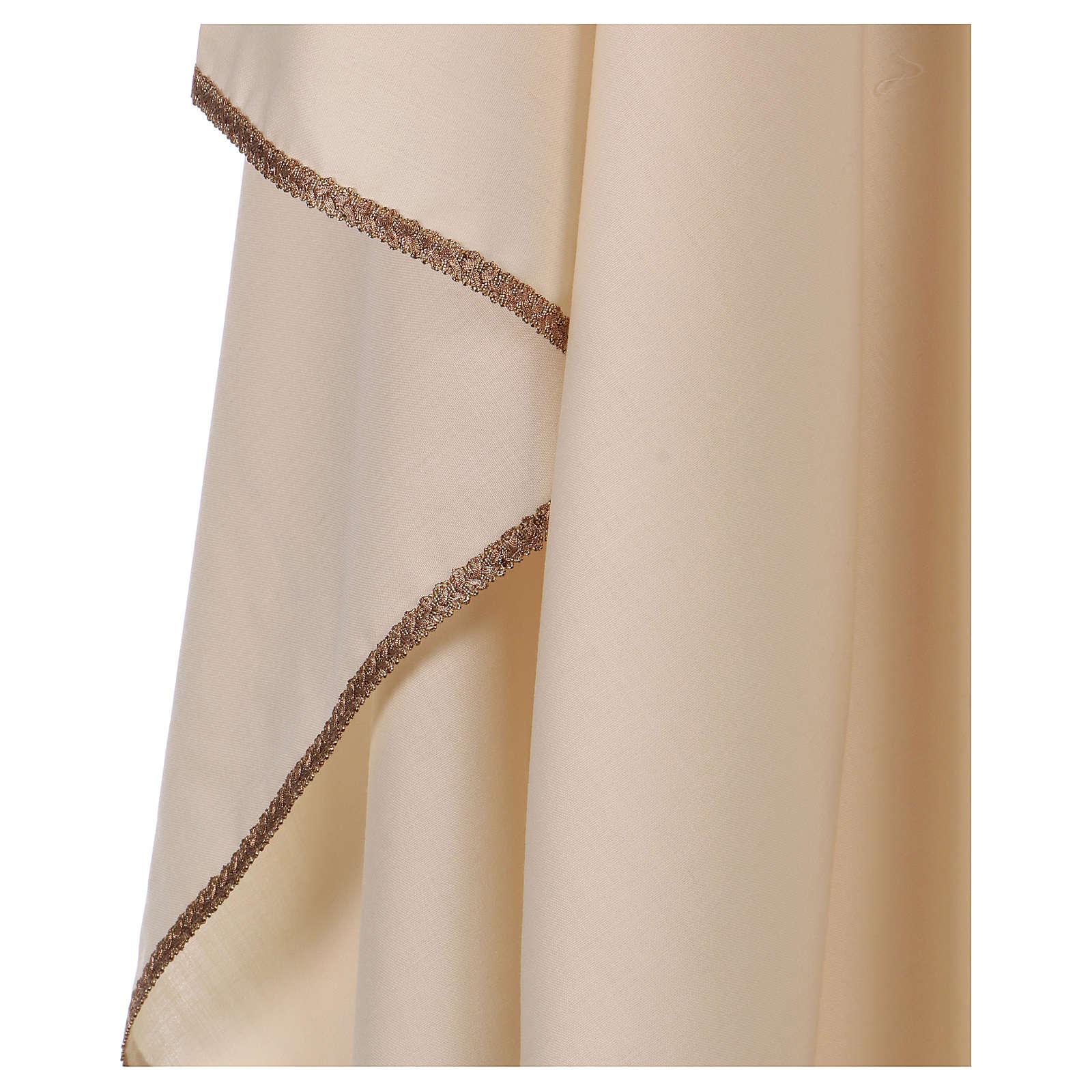 Casula collo rigido a V 100% lana 4