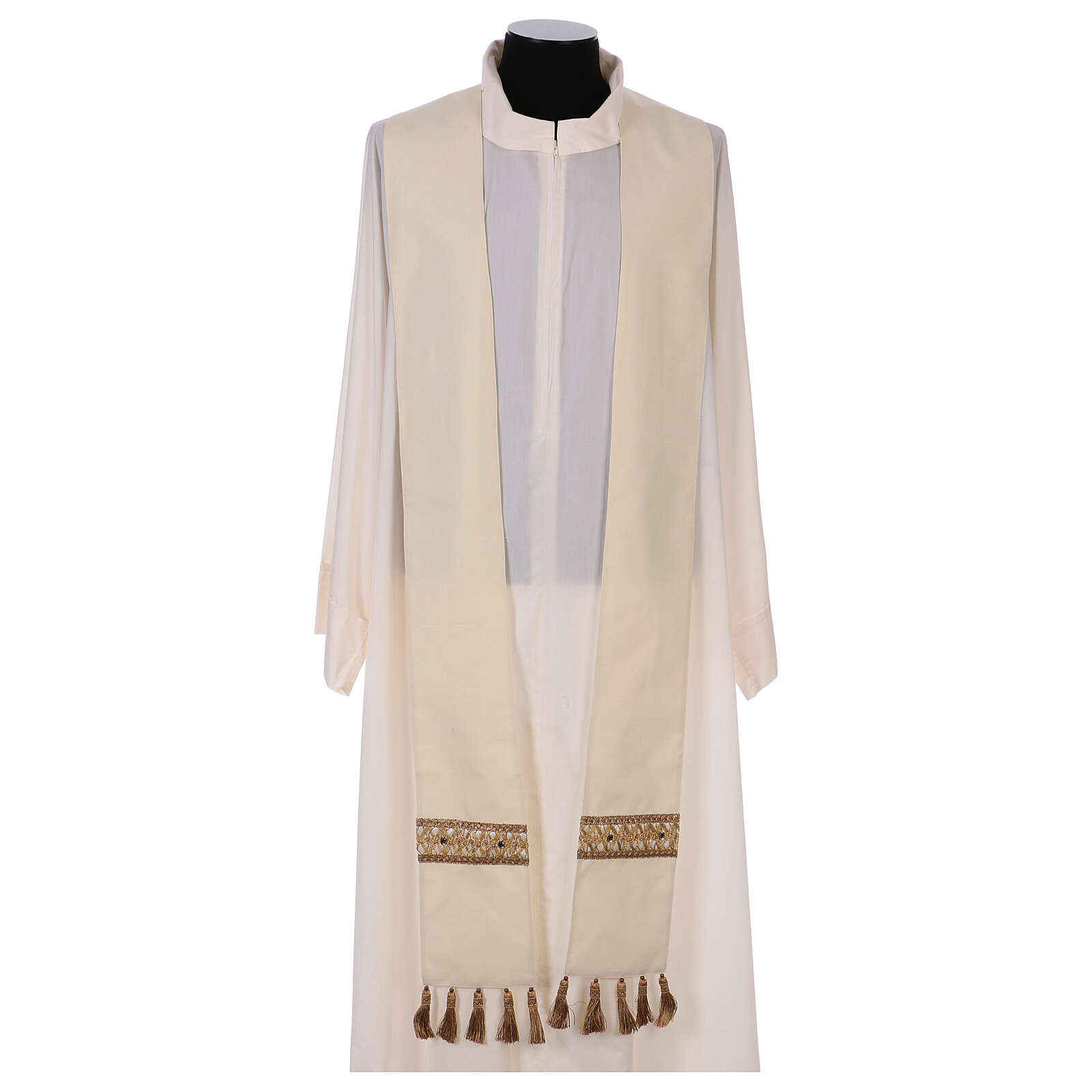 Chasuble with rigid V neckline 100% wool 4