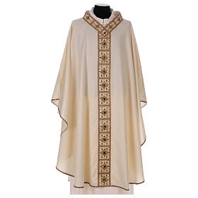 Chasuble with rigid V neckline 100% wool s1