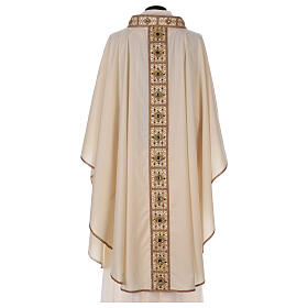Chasuble with rigid V neckline 100% wool s5