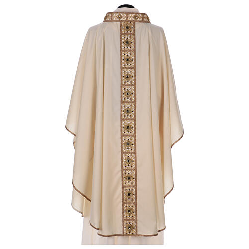 Chasuble with rigid V neckline 100% wool 5