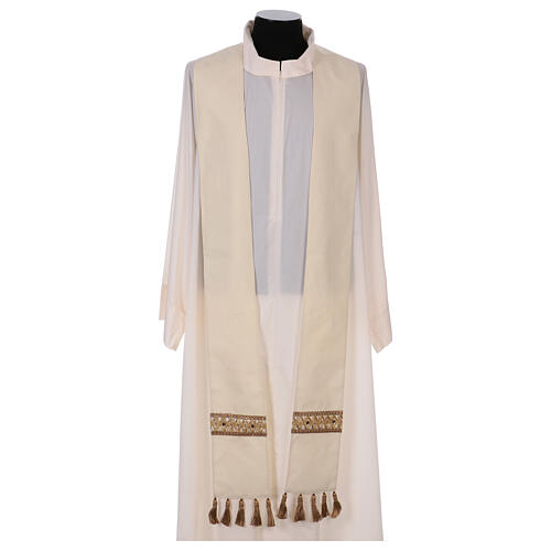 Chasuble with rigid V neckline 100% wool 6