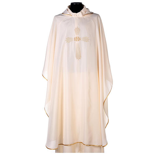 Ultralight Chasuble 100% polyester 4 colours IHS cross rays OFFER 5