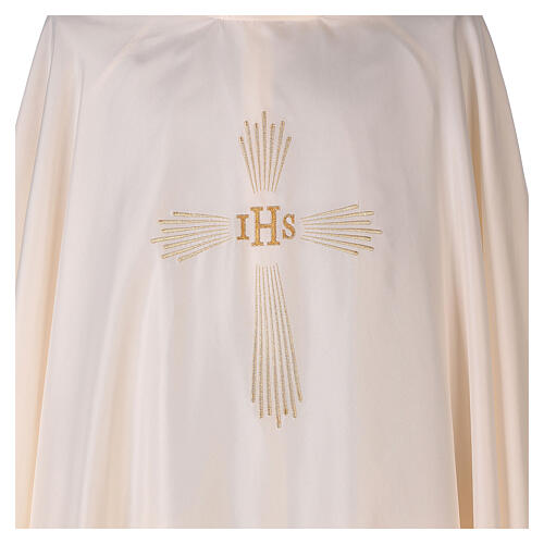 Ultralight Chasuble 100% polyester 4 colours IHS cross rays OFFER 6