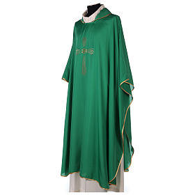 Chasuble 100% polyester 4 couleurs IHS croix rayons s3