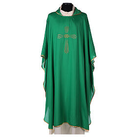 Chasuble 100% polyester 4 couleurs IHS croix rayons REDUCTION s3