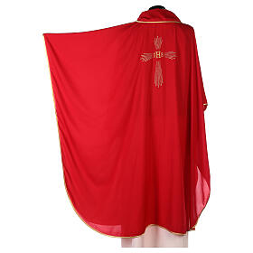 Chasuble 100% polyester 4 couleurs IHS croix rayons REDUCTION s4