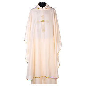 Chasuble 100% polyester 4 couleurs IHS croix rayons REDUCTION s7