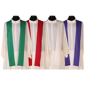 Chasuble 100% polyester 4 couleurs IHS croix rayons REDUCTION s11