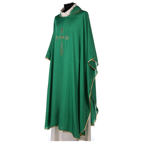 Chasuble 100% polyester 4 couleurs IHS croix rayons 3