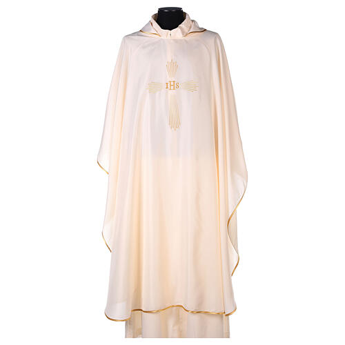Chasuble 100% polyester 4 couleurs IHS croix rayons REDUCTION 7