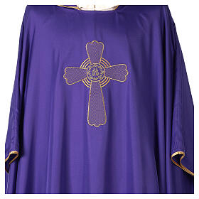 Ultralight Polyester chasuble with cross embroidery OFFER s2
