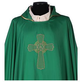Casulla poliéster bordado cruz decorada s2