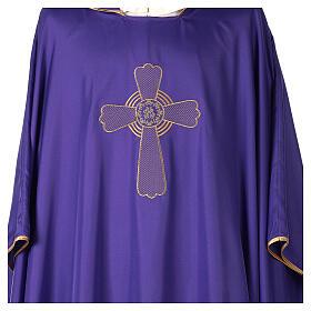 Casulla poliéster bordado cruz decorada OFERTA s2