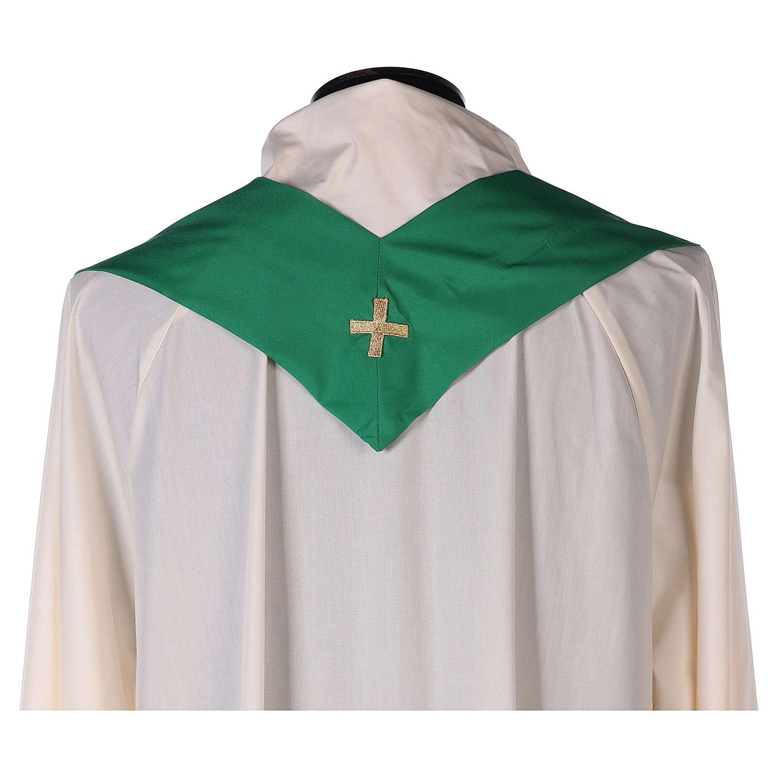 Chasuble polyester broderie croix décorée PROMO 4