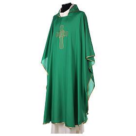 Chasuble polyester broderie croix décorée PROMO s7