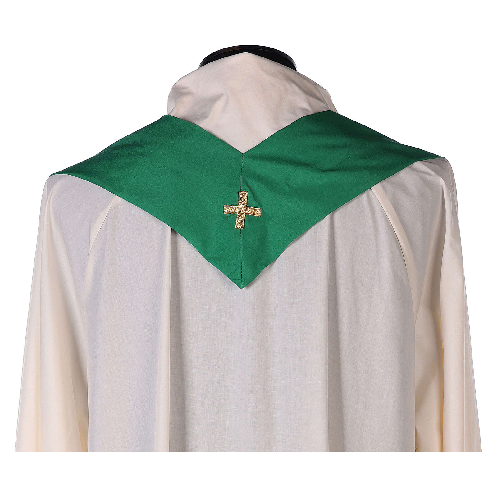Casula poliéster bordado cruz decorada BAIXO PREÇO 4