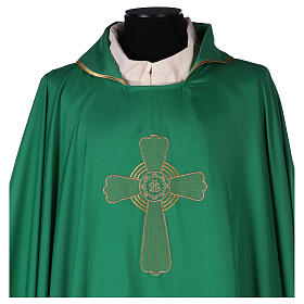 Ultralight Chasuble in polyester cross embroidery s2