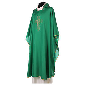 Ultralight Chasuble in polyester cross embroidery s7