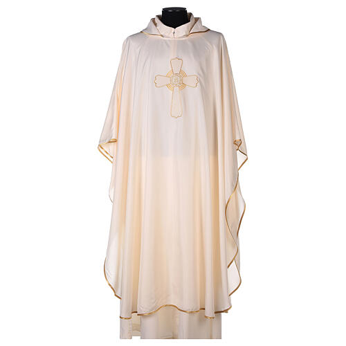 Ultralight Chasuble in polyester cross embroidery 5