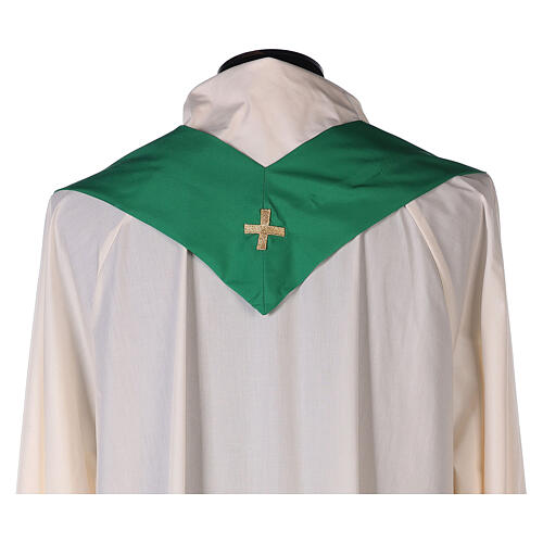 Ultralight Chasuble in polyester cross embroidery 10
