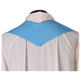 Chasuble bleu clair uni 100% polyester simple s5
