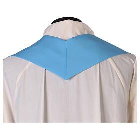 Plain Light blue chasuble in 100% polyester s5