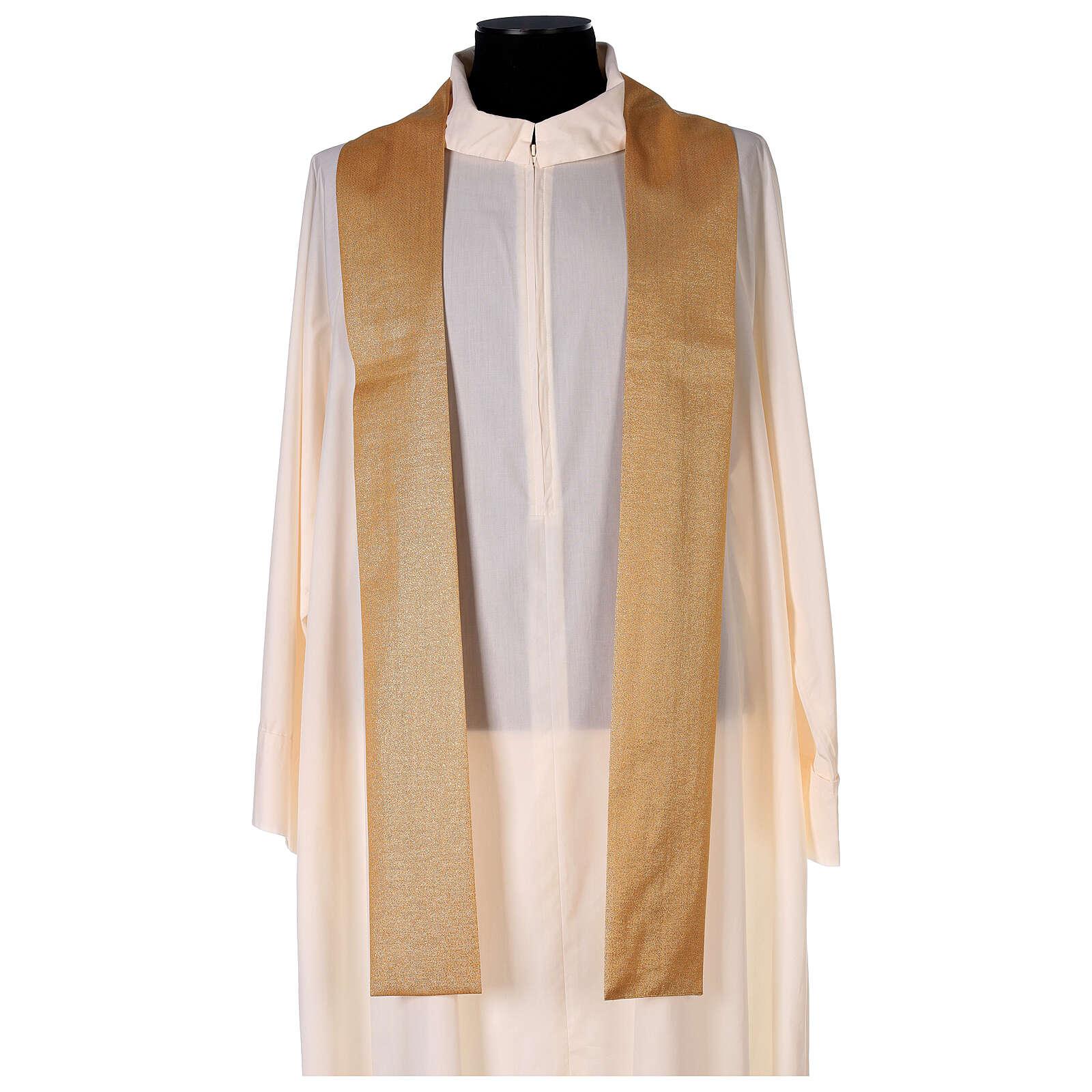 Chasuble dorée unie 100% polyester simple 4