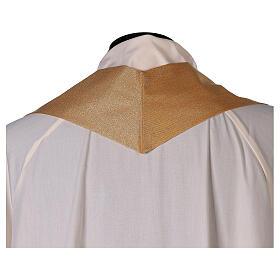 Chasuble dorée unie 100% polyester simple s5