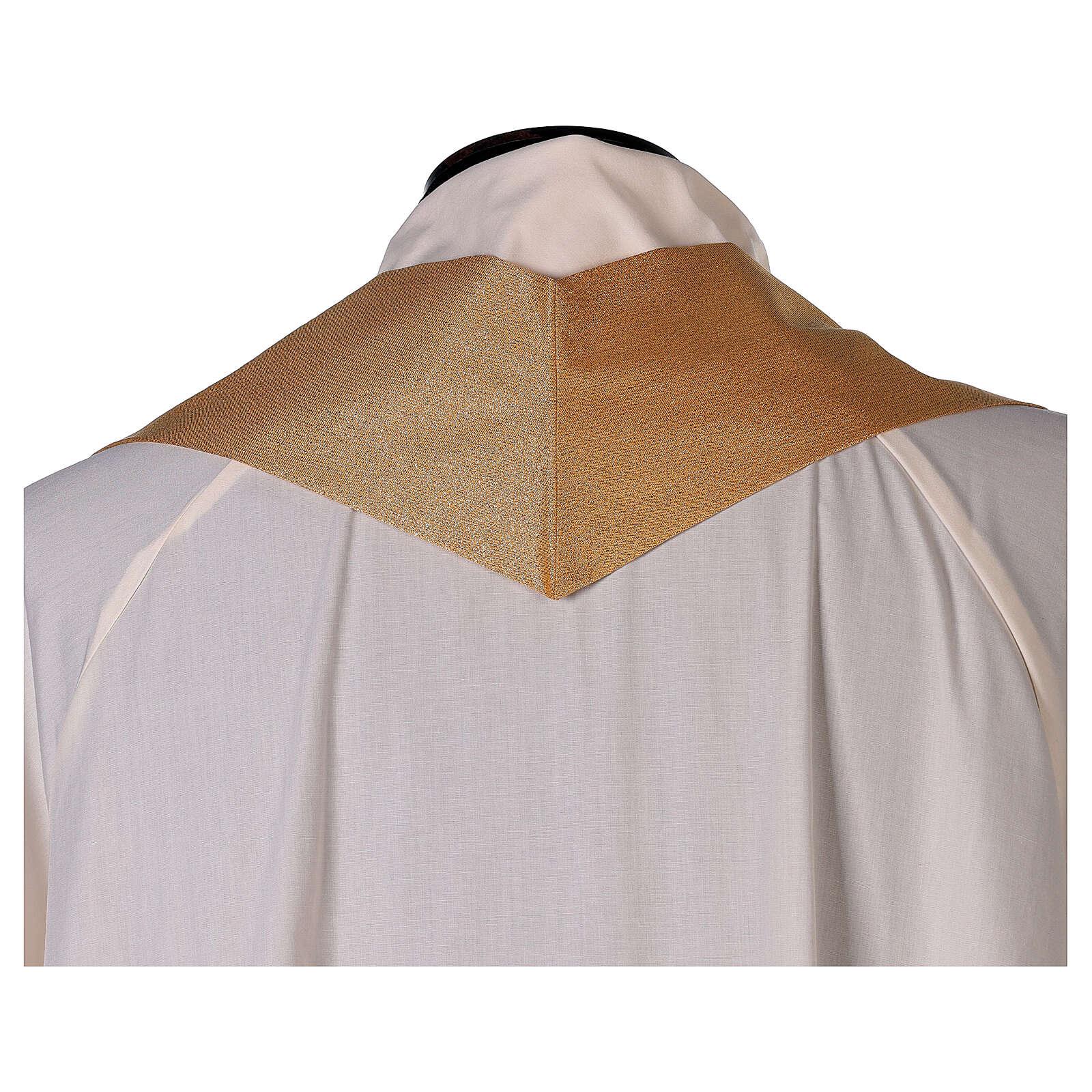 Casula unicolor dourada 100% poliéster sem bordado 4