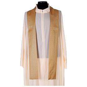 Plain gold chasuble, 100% polyester without embroidery s4