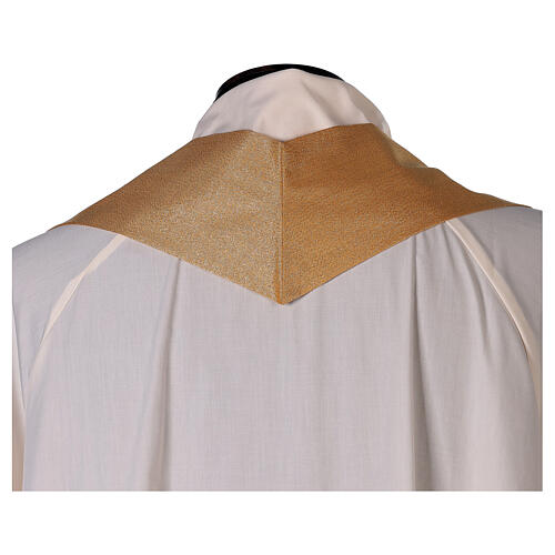 Plain gold chasuble, 100% polyester without embroidery 5