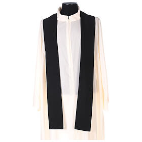 Chasuble noire unie 100% polyester simple s4