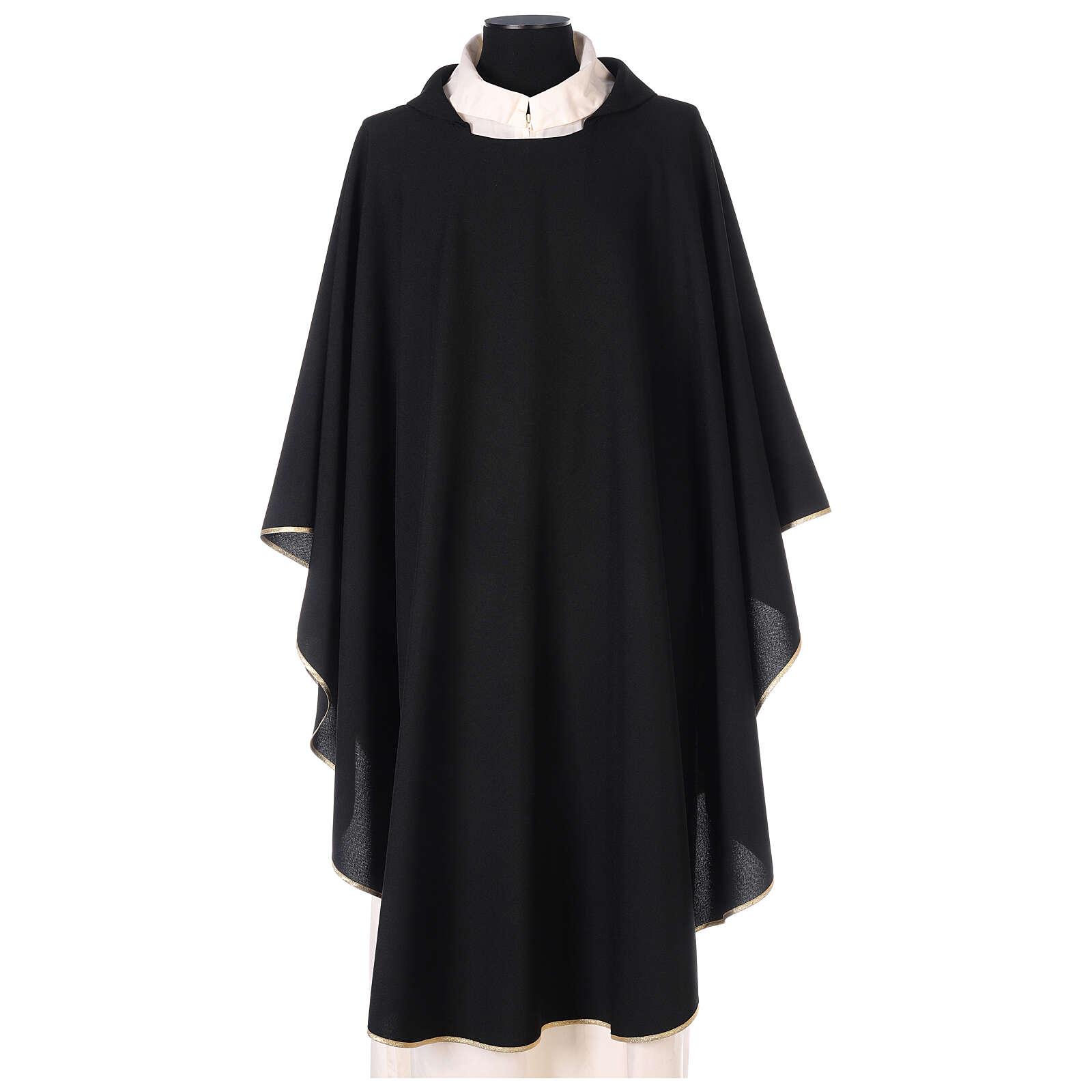 Ornat jednokolorowy czarny 100% poliester, model prosty 4