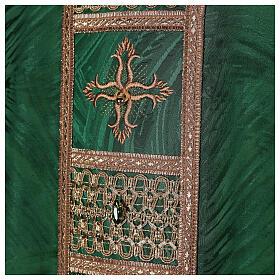 Priest chasuble in acetate viscose agremanistitch work Swarovski machine embroidery s2